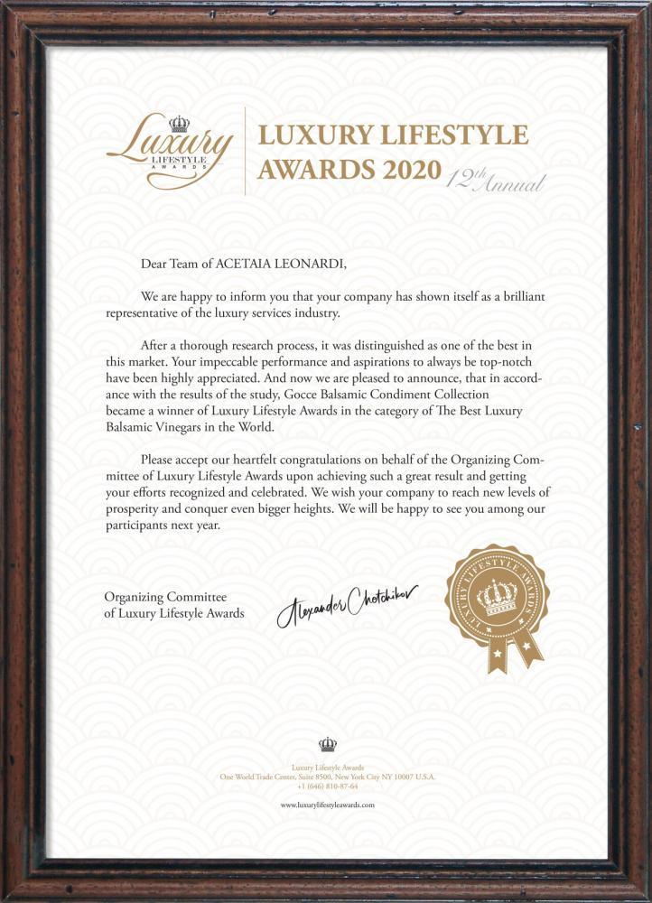 Luxury Lifestyle Awards 2020 - 2